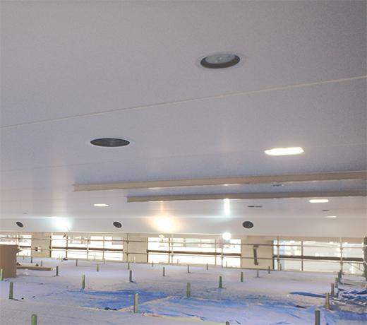 「不燃膜天井」改修工事の様子